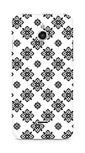 Amez designer printed 3d premium high quality back case cover for Infocus M2 (Black n White Pattern3)
