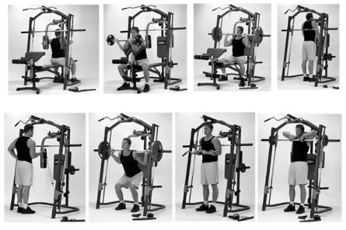 Marcy Mp3100 Peso Bench Smith Machine Con Ebay