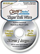 Tiger Tail Beading Wire- Silver - Tiger Tail Beading Wire- Silveramerican Classics-Tiger Tail Wire T