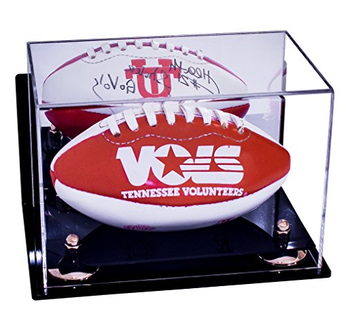 Mini Football Display Case with Mirror (Wall Mount, Table or Shelf) (Clear Display Case Wall Mount compare prices)
