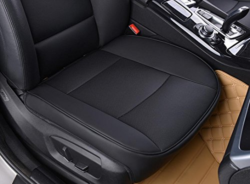 EDEALYN Ultra-luxury PU leather Car Seat cushion car seat cover for Honda & BMW & Mercedes Benz & Toyota & Audi,Single seat without backrest (W 20.5''× L21'') (3D - Black) (Seat Covers For Small Cars compare prices)