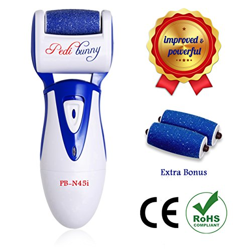 70% OFF- Powerful Rechargeable Electric Callus Remover-Foot File for Scrubbing Feet,Foot Care Tool-Buffs Away Dead,Hard Skin, Dry Callused Feet and Cracked Heels-3 Pumice Stone Rollers Included (Foot Buffer Electric compare prices)