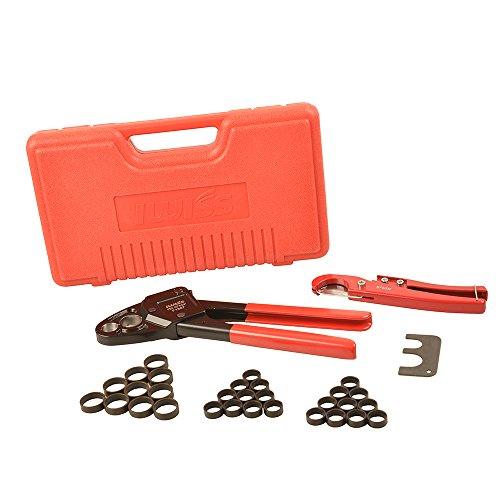 iwiss f1807 1 2 3 4 combo copper ring crimping tool for pex pipe connection with free copper. Black Bedroom Furniture Sets. Home Design Ideas