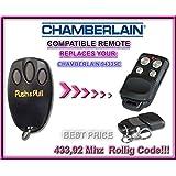 CHAMBERLAIN 94335E compatible émetteur de remplacement de la télécommande,433.92Mhz rolling code , clone