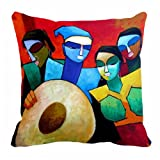 Lali Prints Dholak Digitally Printed Cushion Cover