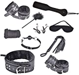Zikker Fetish Bondage Handcuffs and Ankle Cuffs 10pcs