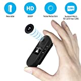 IDV Mini Camera, Hidden Spy Camera with Viewing Screen, Voice Recorder, Sport Camera, Portable Clip Camera with full HD 1080P, Indoor/Outdoor