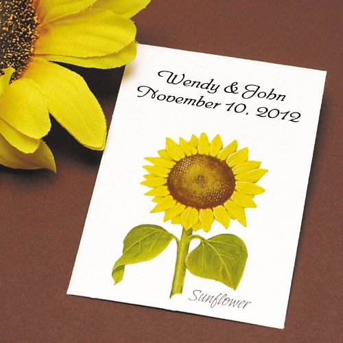 Sunflower Seed Wedding Favors, Personalized, Qty 100 (Wedding Favor Sunflower Seeds compare prices)