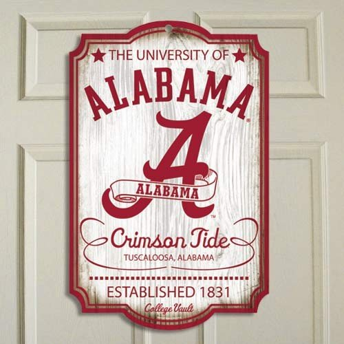Alabama Crimson Tide Vintage Wood Sign