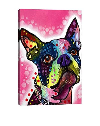 Dean Russo Boston Terrier Gallery Wrapped Canvas Print