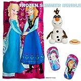 Singing Olaf by Disney, Disney Frozen Elsa & Anna Beach Towel, Disney Frozen Elsa & Anna Flip Flops Size 7-8,... by Disney