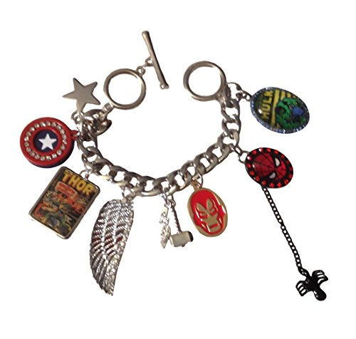 Marvel Comics Super Heroes Quality Costume Enamel Metal 8 Charm Bracelet New Licensed