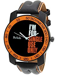Relish-570 Stylish Orange & Black Case Analog Watches For Mens & Boys