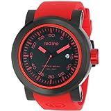 Reloj Red Line RL-50049-BB-01-RDAS Torque, para hombre, deportivo, dial negro y pulsera de silicona roja.