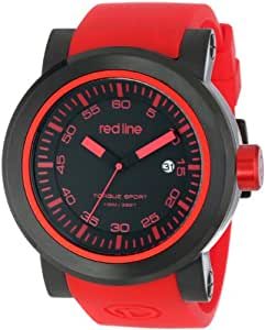 red line Men's RL-50049-BB-01-RDAS Torque Sport Black Dial Red Silicone Band Watch
