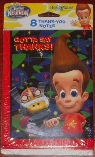 Jimmy Neutron Thank You Notes w/ Envelopes (8ct) - 1