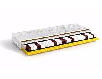 7-Zonen Taschenfederkern Matratze Komfort Kokos Latex (160 x 200 cm)