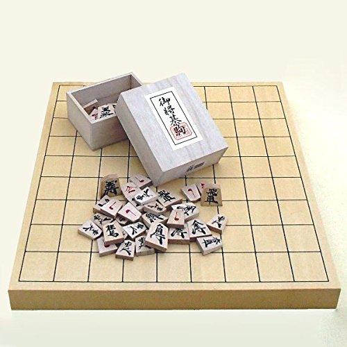 将棋セット ヒバ1寸卓上接合将棋盤竹と別注本漆源平駒の将棋セット