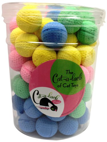 Good Cat-A-Lack 84-Piece Foam Balls in Jar for Pets