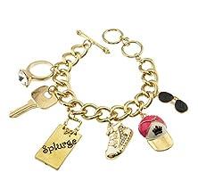 buy Girl'S Envy Shopping Theme Charm Toggle Bracelet Snapbacks And Kicks