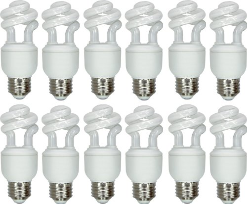 Ge Lighting 64004 Energy Smart Spiral Cfl 10-Watt (40-Watt Replacement) 490-Lumen T3 Spiral Light Bulb With Medium Base, 12-Pack