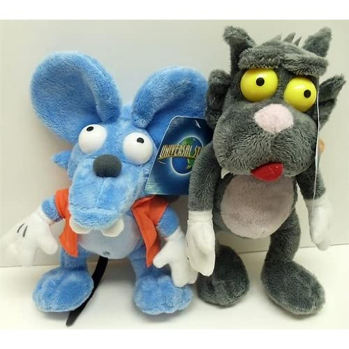 """Amazon.com: The Simpsons 11"""" Plush Itchy and Scratchy Plush Doll Set"""