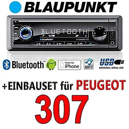 Peugeot 307 brisbane bLAUPUNKT - 230/mP3/uSB avec kit de montage autoradio avec bluetooth