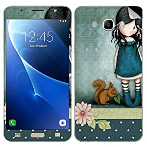 Theskinmantra Girl pet SKIN/STICKER for Samsung Galaxy J7 (2016 Edition)