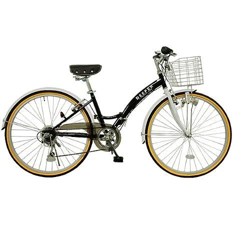 c245c63a8e8c DEEPER☆♪26インチ☆シティサイクル 折りたたみ自転車 DE-14 バスケット・ライト