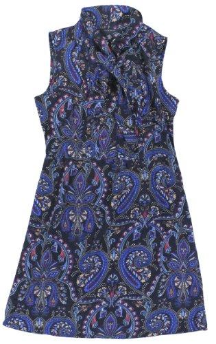 Tommy Hilfiger Women'S Sleeveless Tie-Neck Printed Dress (12, Navy/Multi)