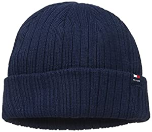 Tommy Hilfiger Men's Solid Cuff Hat, Navy, One Size