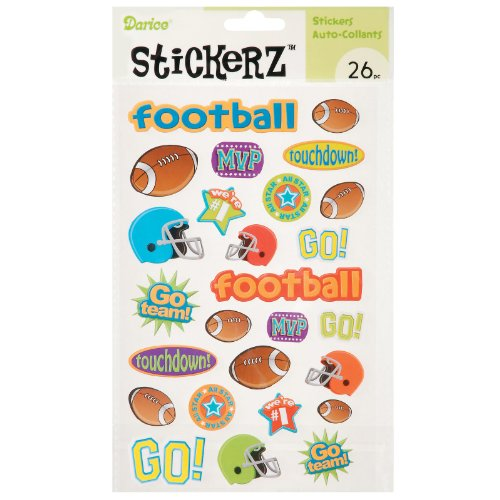 Touchdown Football Sticker Sheet Party Accessory