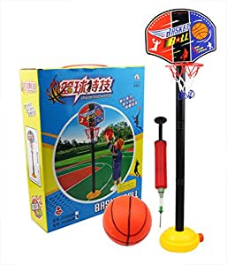 TOBA021 Junior Basketball Hoop And Stand Ball Pump Set Indoor Outdoor Fun Toys Activities Boy Kids For 3 years older Christmas Gift (2 years)