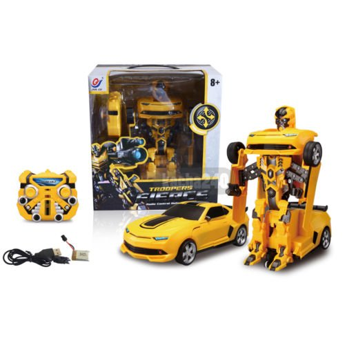 Hot Transformer 2.4G RC Remote Control Deformation Robot Car Chevrolet Bumblebee (Chevrolet Robot compare prices)