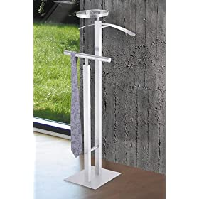 Clothes butler in stainless steel