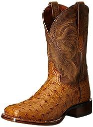 Dan Post Men\'s Alamosa Western Boot, Saddle Tan, 10 XW US