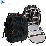 """Limostudio Portable DSLR Camera Case Backpack for Digital SLR Camera, Video, 14"""" Laptop, AGG353"""