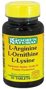 Good 'N Natural - L-Arginine L-Ornithine L-Lysine - 50 Tablets