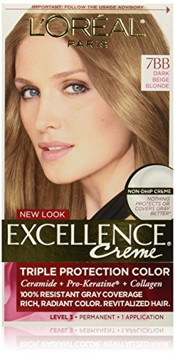 L'Oreal Paris Excellence Creme, 7BB Dark Beige Blonde, (Packaging May Vary) (Beige Blonde Hair Color compare prices)