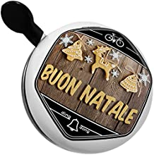 Bicycle Bell Merry Christmas in Italian from Italy Vatican City San Marino by NEONBLOND