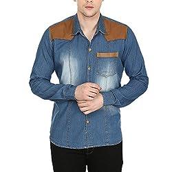 Stylox Men's Light Blue Cotton Denim Shirt Light blue