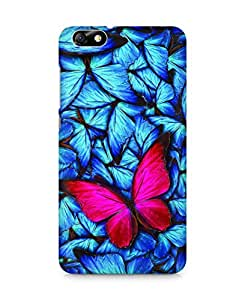 Amez designer printed 3d premium high quality back case cover for Huawei Honor 4X (Beautiful lot of different butterflys)