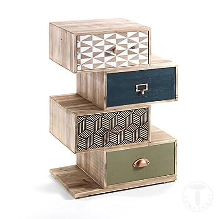 Mueble cajonera 4/C kijo-x (Kit de montaje 50x 34x 72,5cm madera maciza de abeto