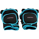 Empower Weighted Fitness Gloves, Black and Teal