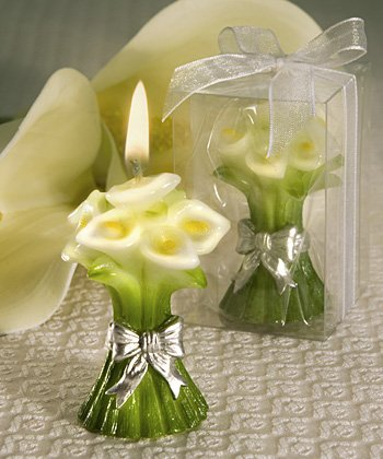 Calla Lily Design Candle Favor (Set of 144) - Wedding Party Favors