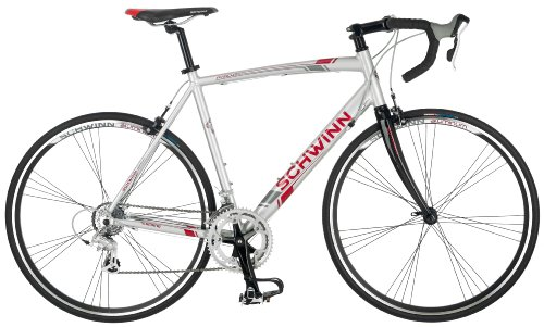Schwinn Men's Phocus 1600 700C Drop Bar Road Bicycle, Silver, 18-Inch