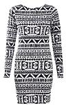 Womens Long Sleeves Tribal Aztec Print Bodycon Dress
