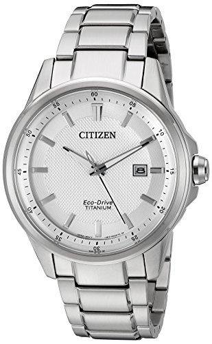 시티즌 Citizen Mens AW1490-50A Eco-Drive TI+IP Titanium Watch