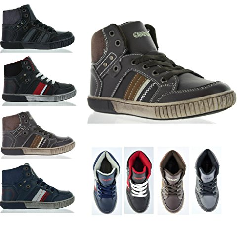 Dream Pairs P4050 Boy's Casual High Top Sneakers Shoes (Toddler/Little Kid/Big Kid)