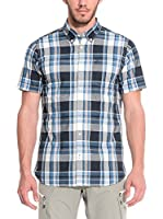 ZZZ-PEAK PERFORMANCE Camisa Hombre Eric Bd Ss (Azul Oscuro / Gris)